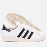 adidas Originals Superstar 80s Classic Sneakers White/Black/Chalk photo- 2