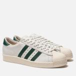 Мужские кроссовки adidas Originals Superstar 80s Recon Crystal White/Core Green/Off White фото- 2