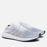 Кроссовки adidas Originals Swift Run Primeknit White/Grey One/Core Black фото- 1