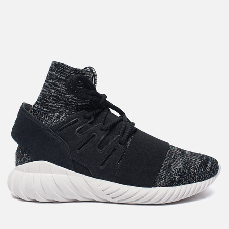 Мужские кроссовки adidas Originals Tubular Doom Primeknit Core Black/Granite/Vintage White