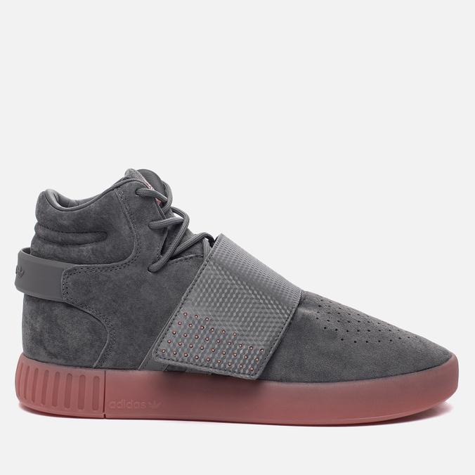 Кроссовки adidas Originals Tubular Invader Strap Grey Four/Grey Four/Raw Pink