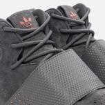 Кроссовки adidas Originals Tubular Invader Strap Grey Four/Grey Four/Raw Pink фото- 3