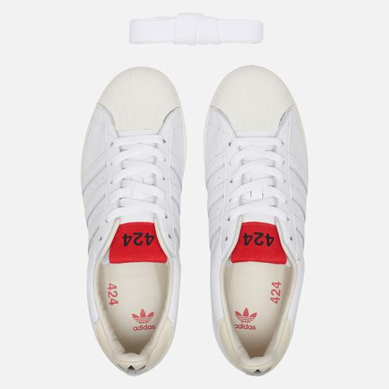 Мужские кроссовки adidas Originals x 424 Shelltoe Core White/Core White/Scarlet