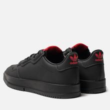 Мужские кроссовки adidas Originals x 424 Supercourt Premiere Black/Black/Scarlet фото- 2