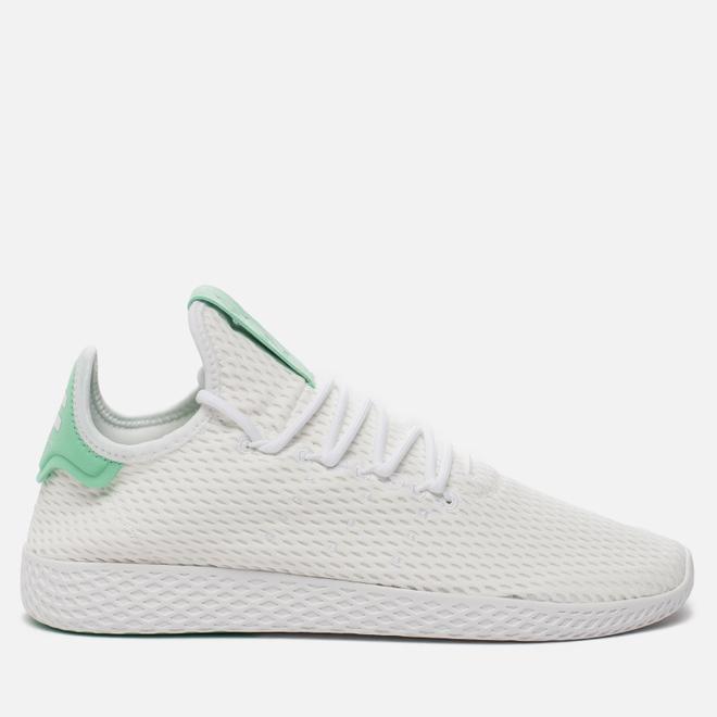 Мужские кроссовки adidas Originals x Pharrell Williams Tennis Hu Running White/Green Glow