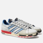 Мужские кроссовки adidas Originals x Raf Simons Micro Stan Silver Metallic/Red/Red фото- 2