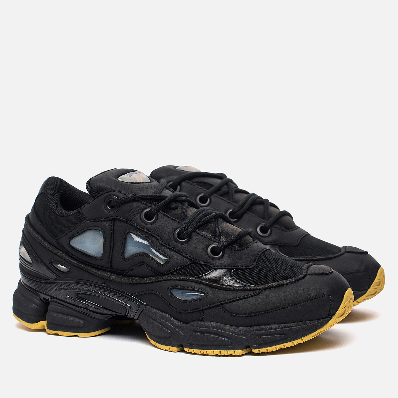 Мужские кроссовки adidas Originals x Raf Simons Ozweego III Black/Black/Corn Yellow