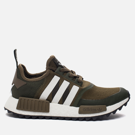 Мужские кроссовки adidas Originals x White Mountaineering NMD R1 Trail Primeknit Trace Olvie/White