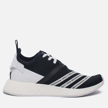Мужские кроссовки adidas Originals x White Mountaineering NMD R2 Primeknit Black/White