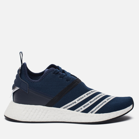 Мужские кроссовки adidas Originals x White Mountaineering NMD R2 Primeknit Collegiate Navy/White