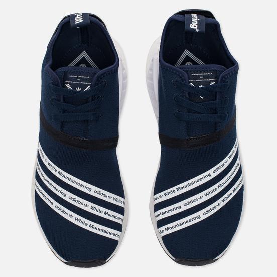 Мужские кроссовки adidas Originals x White Mountaineering NMD R2 Primeknit Collegiate Navy/White