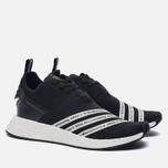 Мужские кроссовки adidas Originals x White Mountaineering NMD R2 Primeknit Core Black/White фото- 1