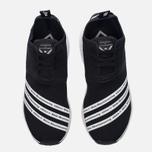 Мужские кроссовки adidas Originals x White Mountaineering NMD R2 Primeknit Core Black/White фото- 4