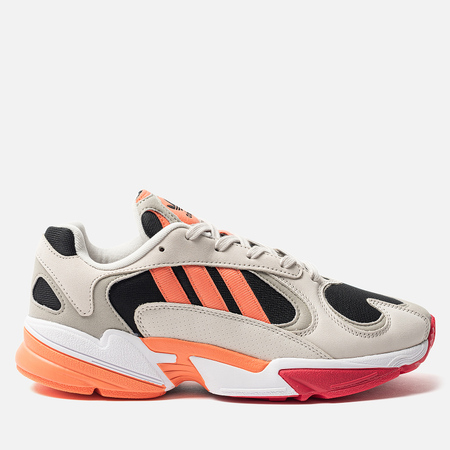 Мужские кроссовки adidas Originals Yung-1 Core Black/Semi Coral/Raw White
