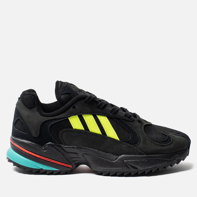 Мужские кроссовки adidas Originals Yung-1 Trail Core Black/Solar Yellow/Hi-Res Aqua