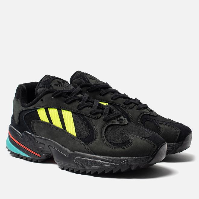 Мужские кроссовки adidas Originals Yung-1 Trail Core Black/Solar Yellow/Hi-Res Aqua