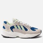 Мужские кроссовки adidas Originals Yung-1 White/Glow Green/Collegiate Royal фото- 0