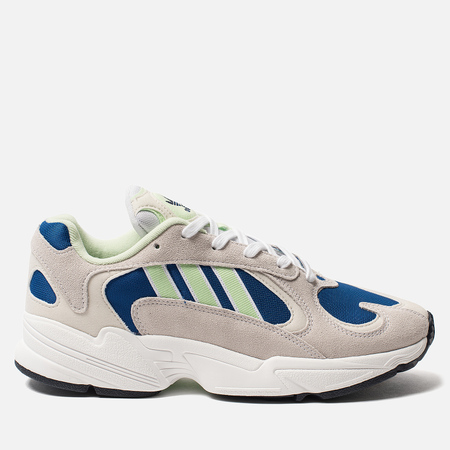 Мужские кроссовки adidas Originals Yung-1 White/Glow Green/Collegiate Royal