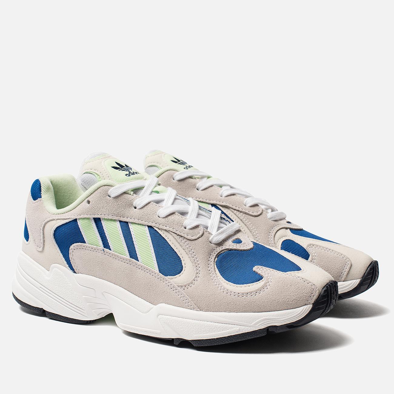 Мужские кроссовки adidas Originals Yung-1 White/Glow Green/Collegiate Royal