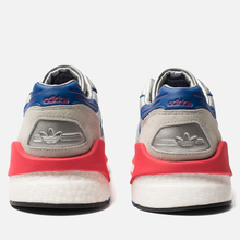 Мужские кроссовки adidas Originals ZX930 x EQT x Micropacer Silver Metallic/Power Blue/Shock Red фото- 2