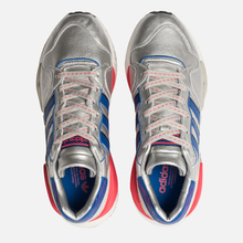 Мужские кроссовки adidas Originals ZX930 x EQT x Micropacer Silver Metallic/Power Blue/Shock Red фото- 1