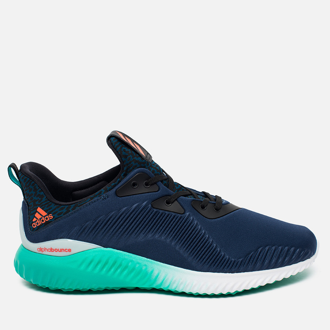 adidas Performance Alphabounce Men's Sneakers Mineral Blue/Solar Red/Shock Green