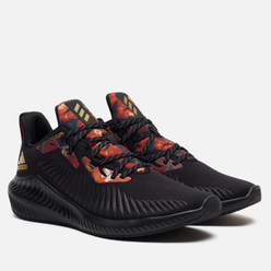Мужские кроссовки adidas Performance Alphabounce Core Black/Gold Metallic/Scarlet