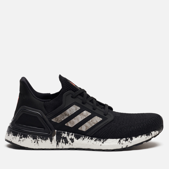 Мужские кроссовки adidas Performance Ultra Boost 20 Core Black/Cloud White/Signal Coral