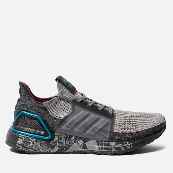 Мужские кроссовки adidas Performance x Star Wars UltraBoost 19 Grey/Grey Two/Bright Cyan