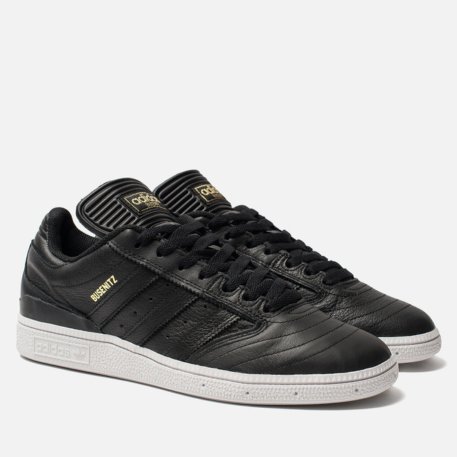Мужские кроссовки adidas Skateboarding Busenitz Core Black/Gold Metallic/White