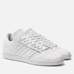 Мужские кроссовки adidas Skateboarding Busenitz White/Gold Metallic/White фото- 2