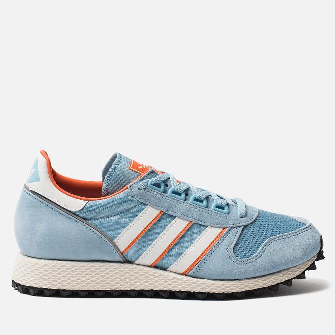 Мужские кроссовки adidas Spezial Silverbirch Clear Blue/White/Orange