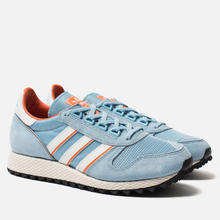Мужские кроссовки adidas Spezial Silverbirch Clear Blue/White/Orange фото- 0