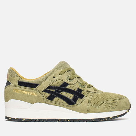 Мужские кроссовки ASICS x Footpatrol Gel-Lyte III Squad Military Green/Black/White