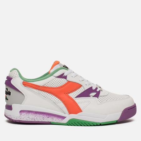Мужские кроссовки Diadora Rebound Ace White/Vermillion Orange