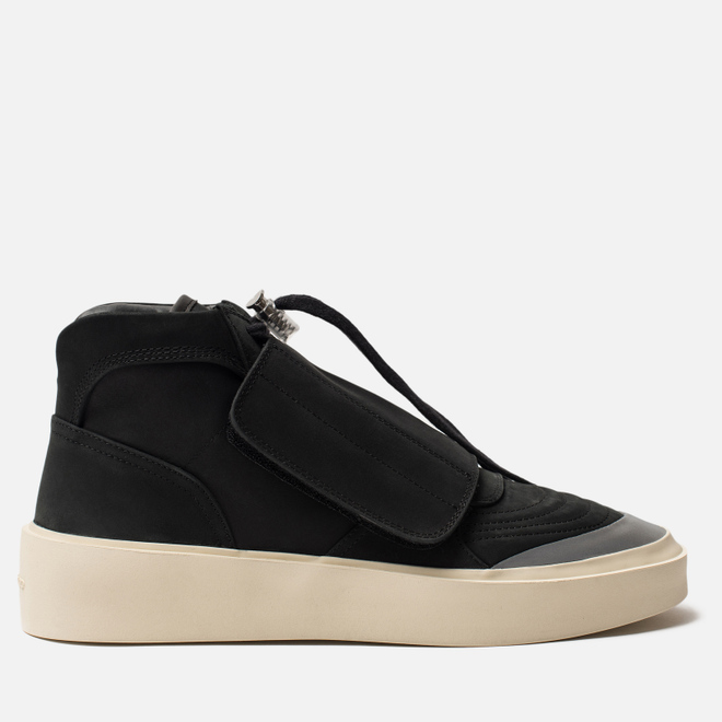Мужские кроссовки Fear of God Skate Mid Black/Silver 3M