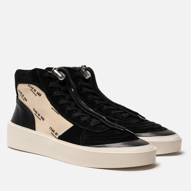 Мужские кроссовки Fear of God Strapless Skate Mid Suede/Canvas Black/Cream Fear Of God Print
