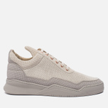 Мужские кроссовки Filling Pieces Low Top Ghost Perforated Grey фото- 0