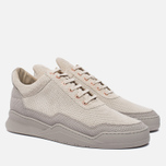 Мужские кроссовки Filling Pieces Low Top Ghost Perforated Grey фото- 1