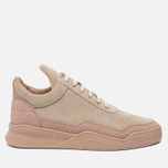 Мужские кроссовки Filling Pieces Low Top Ghost Perforated Pink фото- 0