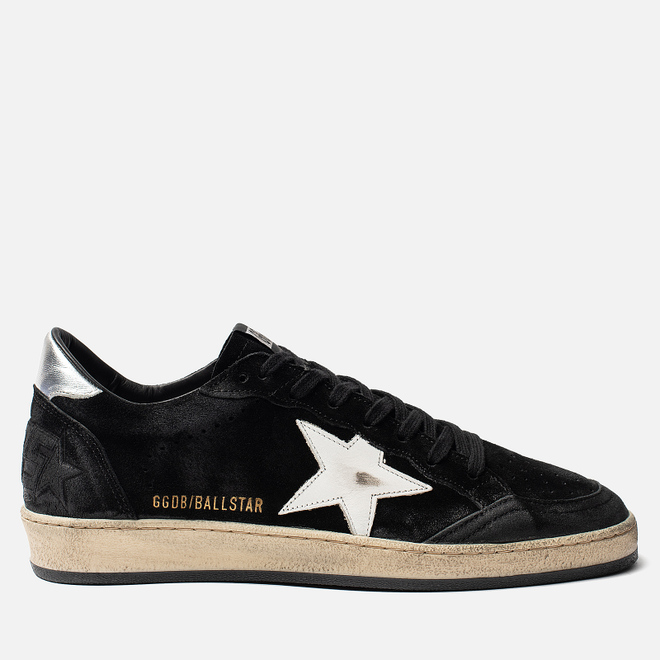 Мужские кроссовки Golden Goose Ball Star Black Silver/White Star