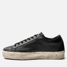 Мужские кроссовки Golden Goose Hi Star Black Leather Lettering фото- 5