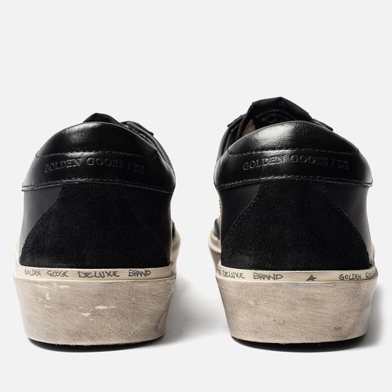 Мужские кроссовки Golden Goose Hi Star Black Leather Lettering