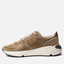 Мужские кроссовки Golden Goose Running Sole Tabac Suede/White Star фото- 5