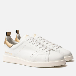 Мужские кроссовки Golden Goose Starter White Leather/Gold Laminated