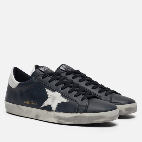 Мужские кроссовки Golden Goose Superstar Black/White Star