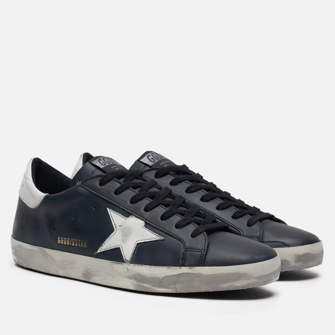 Мужские кроссовки Golden Goose Superstar Black/White Star