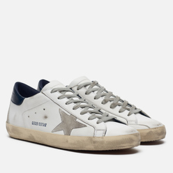 Мужские кроссовки Golden Goose Superstar White/Blue Cream