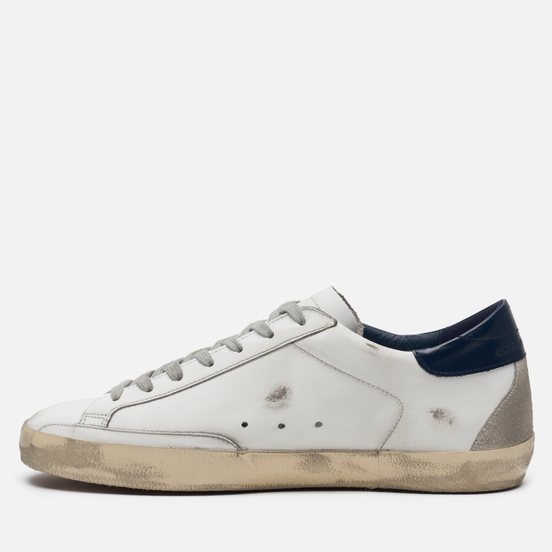 Мужские кроссовки Golden Goose Superstar White/Blue Cream