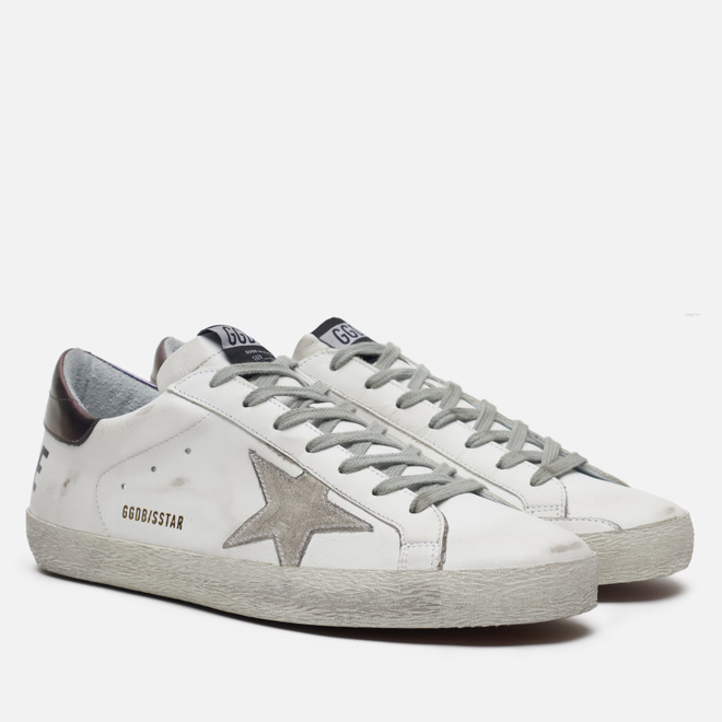 Мужские кроссовки Golden Goose Superstar White Leather/Golden Goose Printed